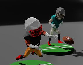 3D model Stylized Football Player