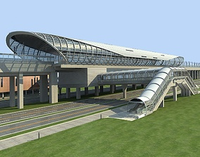 3D Light Rail Station