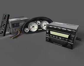 3D model Mazda MX-5 Speedometer Radio Klima