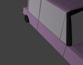 sport Low poly car 3D model