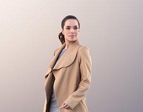3D asset Juliette 10812 - Business Woman in Coat Walking