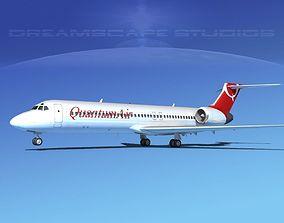 3D Boeing 717-200 Quantum Air