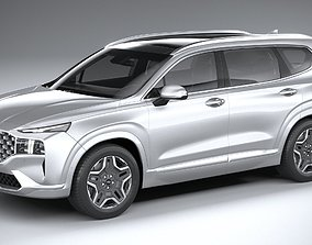Hyundai SantaFe 2021 3D model