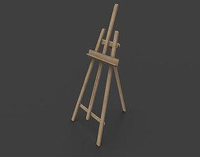 3D model Rigged Easel
