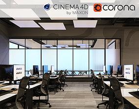 3D model room Corona - C4D files - Office Space 2