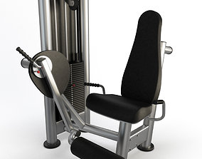 Gym Seated Legs Curl 2 3D