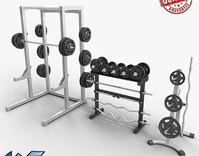 3D model Gym Dumbbells sport
