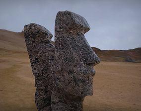 3D model Moai Statues