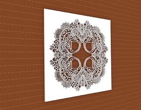 cnc decoration 3D model Mandala