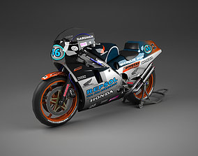 Honda NSR 500 with Repsol Livery 3D model