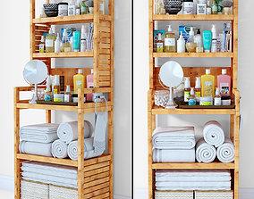 3D model PBR box Bathroom shelf