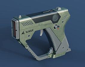 sci-fi handgun 3D asset