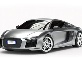 3D Audi R8 2016 - Rigged