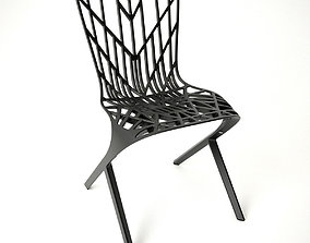 3D Knoll Aluminum Side Chair