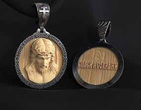 Jesus pendant for printing and CNC