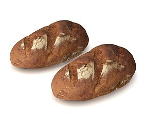 3D model French countrybread