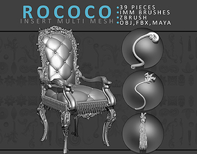 3D Rococo Brush Set