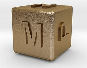 3D printable model Dice119-alphabet