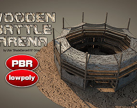Wooden Battle Arena 3D model