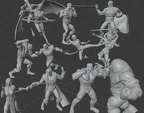 3D print model X-MEN DIORAMA X-MEN VS THE BROTHERHOOD