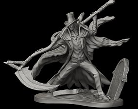 Gerhman Bloodborne miniature 40mm 32-35 mm scale 3D model
