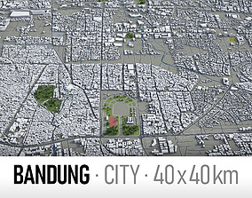 Bandung - city and surroundings 3D model