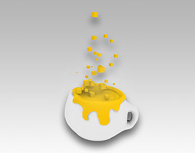 cool cup 3D model animated