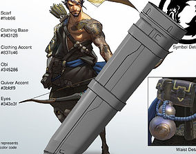 Overwatch Hanzo Cosplay - Quiver 3D print model