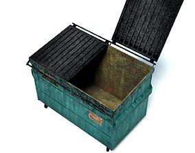 3D model realtime Garbage Dumpster