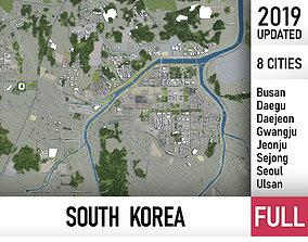 3D South Korea - all cities