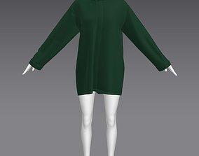 3D asset Woman Clothing A-Pose 304