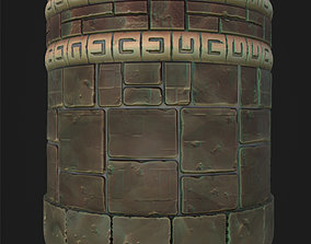 3D Stylized Old Wall