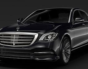 3D model Mercedes Benz S 300 Bluetec Hybrid W222 2018