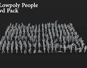 3D model 264 Lowpoly People Crowd Pack Set-08