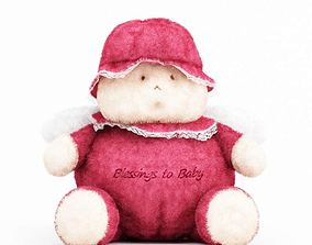3D Pink And White Baby Blessing Plush