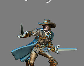 3D printable model Musketeer - d artagnan- 35mm scale
