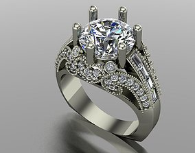 Engagement ring fancy 3D printable model