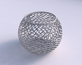 3D print model Bowl spheric with lattice tiles