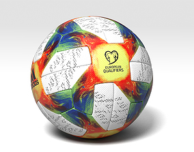 3D model Euro Qualifier 2020 Official Ball Vray