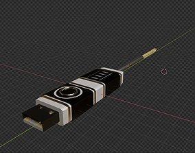 USB for computers 3D model