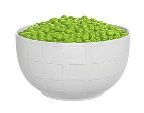 3D model Peas in bowl