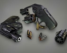 3D model Lowpoly PBR Snubnosed Revolver