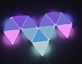 Nanoleaf triangle lights cool gaming light rgb 3D asset