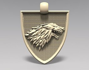 Game of thrones Stark pendant 3D print model