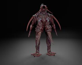 3D asset Infected man monster alien UFO creature