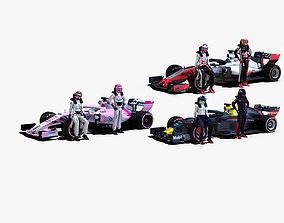 3D model Formula 1 2018 Pack 2