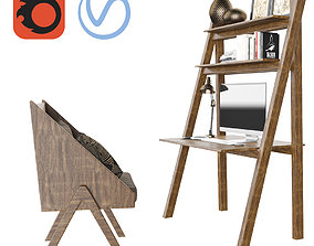 3D model African Worktable - Ethnic Home Office