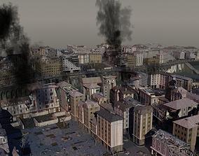 3D exterior Damaged Town