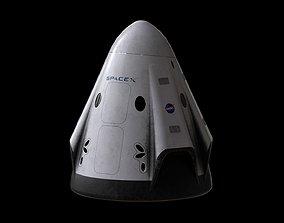 3D asset realtime Crew Dragon SpaceX Pod