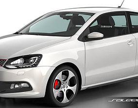 3D model Volkswagen Polo 2013